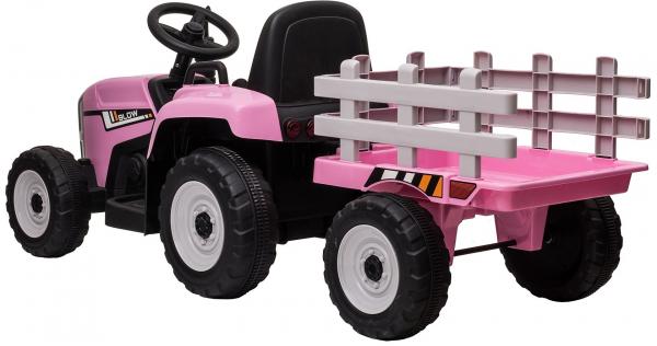 Tractor electric cu remorca Premier Farm, 12V, roti cauciuc EVA 7