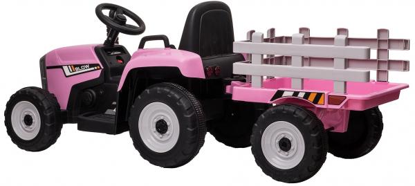 Tractor electric cu remorca Premier Farm, 12V, roti cauciuc EVA 6