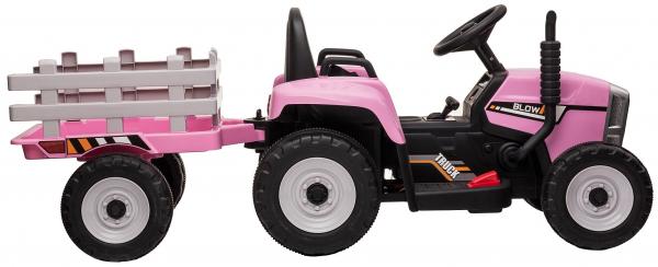 Tractor electric cu remorca Premier Farm, 12V, roti cauciuc EVA 13