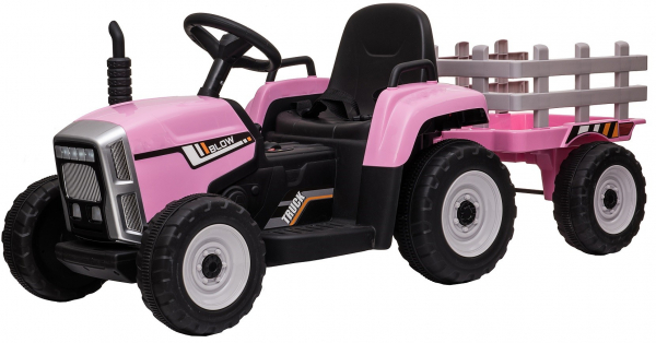 Tractor electric cu remorca Premier Farm, 12V, roti cauciuc EVA 3