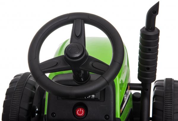 Tractor electric cu remorca Premier Farm, 12V, roti cauciuc EVA 23