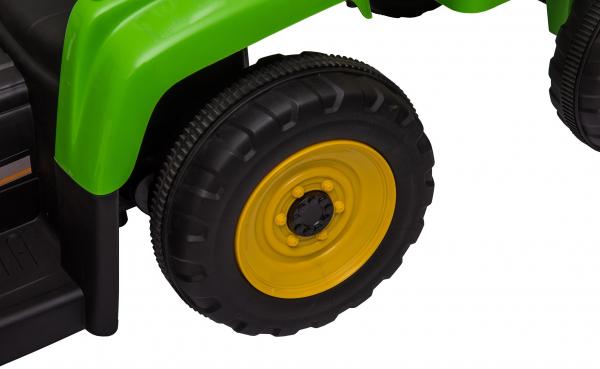 Tractor electric cu remorca Premier Farm, 12V, roti cauciuc EVA 28