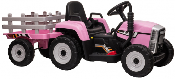 Tractor electric cu remorca Premier Farm, 12V, roti cauciuc EVA 14