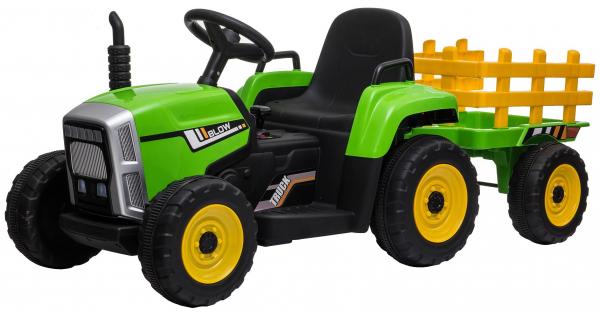 Tractor electric cu remorca Premier Farm, 12V, roti cauciuc EVA 4