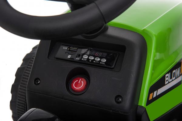 Tractor electric cu remorca Premier Farm, 12V, roti cauciuc EVA 24