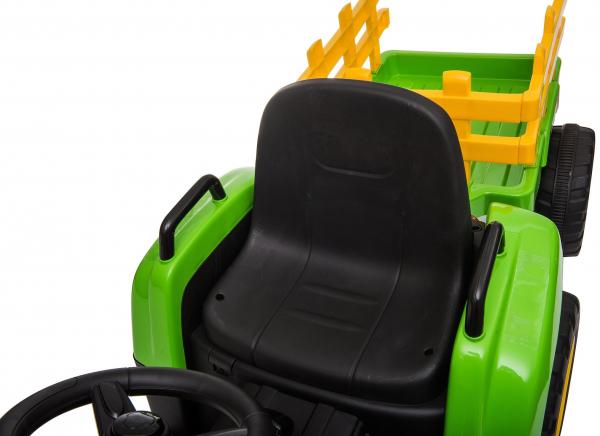 Tractor electric cu remorca Premier Farm, 12V, roti cauciuc EVA 29