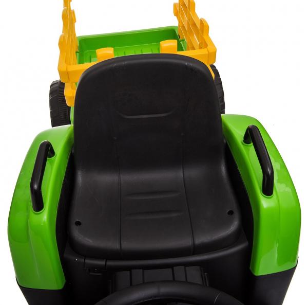 Tractor electric cu remorca Premier Farm, 12V, roti cauciuc EVA 30