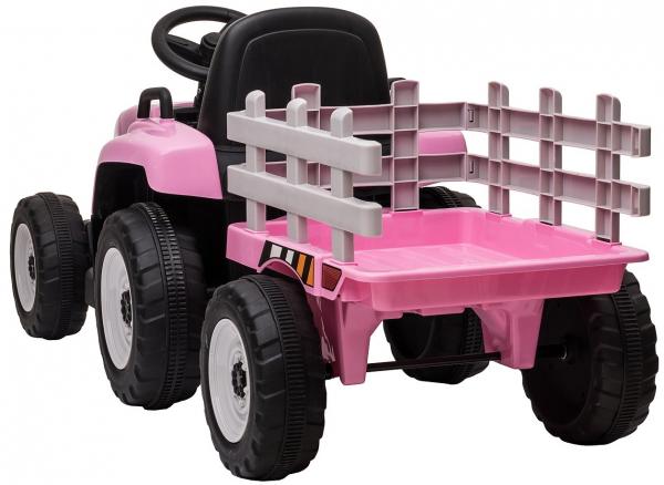Tractor electric cu remorca Premier Farm, 12V, roti cauciuc EVA 9