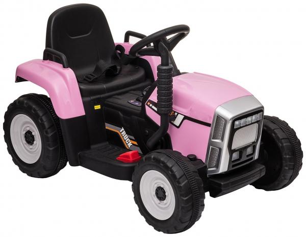 Tractor electric cu remorca Premier Farm, 12V, roti cauciuc EVA 21