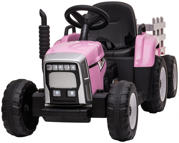Tractor electric cu remorca Premier Farm, 12V, roti cauciuc EVA 1