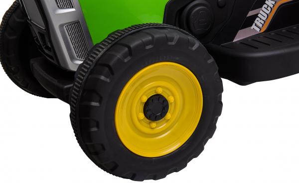 Tractor electric cu remorca Premier Farm, 12V, roti cauciuc EVA 17