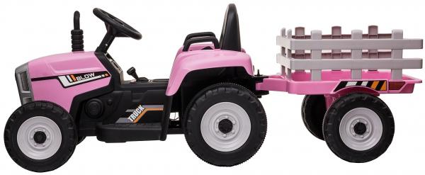 Tractor electric cu remorca Premier Farm, 12V, roti cauciuc EVA 5