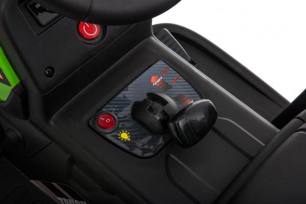 Tractor electric cu remorca Premier Farm, 12V, roti cauciuc EVA 26