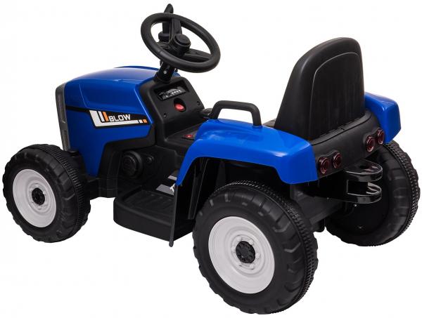 Tractor electric cu remorca Premier Farm, 12V, roti cauciuc EVA, albastru [19]