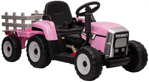 Tractor electric cu remorca Premier Farm, 12V, roti cauciuc EVA 16