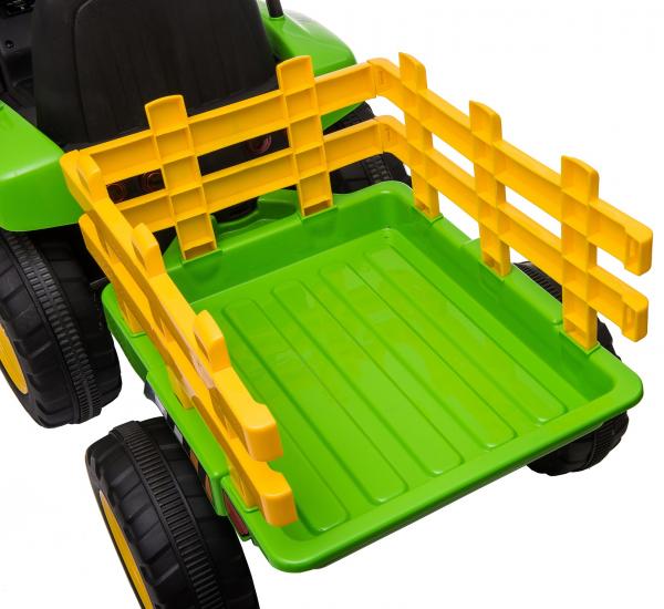 Tractor electric cu remorca Premier Farm, 12V, roti cauciuc EVA 35