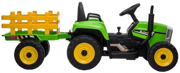 Tractor electric cu remorca Premier Farm, 12V, roti cauciuc EVA 11