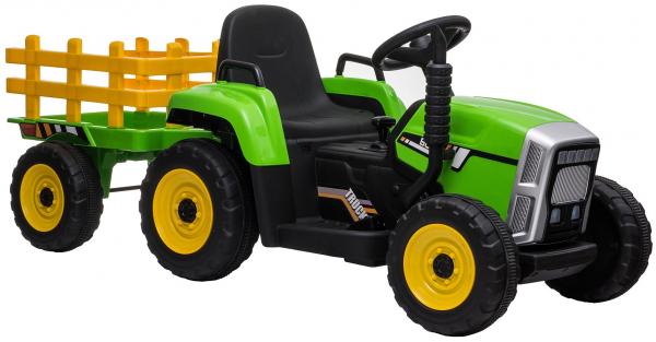 Tractor electric cu remorca Premier Farm, 12V, roti cauciuc EVA 12