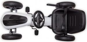 Kart Mercedes cu pedale pentru copii, roti cauciuc Eva, alb [7]