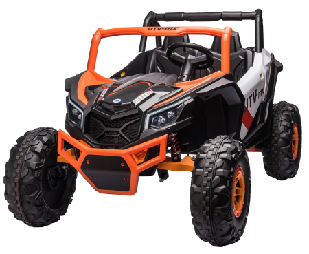 Masinuta electrica UTV Premier Dune, 24V, roti cauciuc EVA, 2 locuri, scaun piele ecologica, portocaliu [0]
