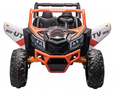 Masinuta electrica UTV Premier Dune, 24V, roti cauciuc EVA, 2 locuri, scaun piele ecologica, portocaliu [5]