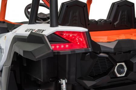 Masinuta electrica UTV Premier Dune, 24V, roti cauciuc EVA, 2 locuri, scaun piele ecologica, portocaliu [10]
