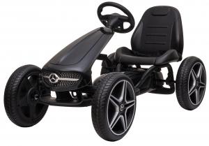 Kart Premier Mercedes cu pedale pentru copii, roti cauciuc Eva0