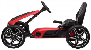 Kart Mercedes cu pedale pentru copii, roti cauciuc Eva, rosu [1]