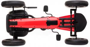 Kart Mercedes cu pedale pentru copii, roti cauciuc Eva, rosu [8]
