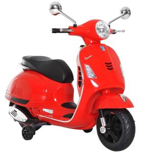 Scooter electric cu 2 roti Premier Vespa GTS Super, 12V, MP3, roti ajutatoare, rosu5