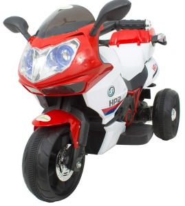 Motocicleta electrica cu 3 roti Premier HP2, 6V, 2 motoare, MP3, rosu [4]