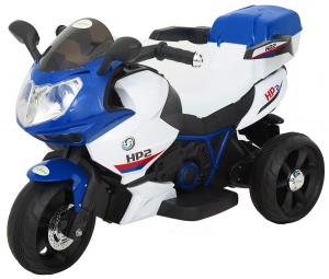 Motocicleta electrica cu 3 roti Premier HP2, 6V, 2 motoare, MP3, albastru0