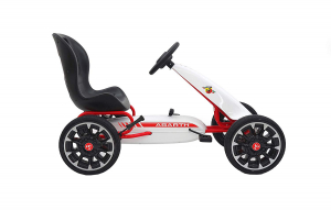 Kart Abarth alb cu pedale pentru copii1