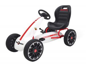Kart Abarth alb cu pedale pentru copii0