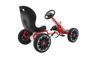 Kart Abarth alb cu pedale pentru copii2