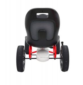 Kart Abarth alb cu pedale pentru copii4