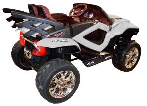 Masinuta electrica 4x4 Premier D-Max, 12V, roti cauciuc EVA, scaun piele ecologica3