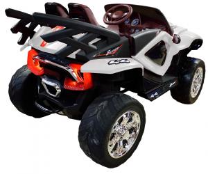 Masinuta electrica 4x4 Premier D-Max, 12V, roti cauciuc EVA, scaun piele ecologica4