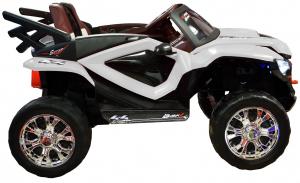 Masinuta electrica 4x4 Premier D-Max, 12V, roti cauciuc EVA, scaun piele ecologica5