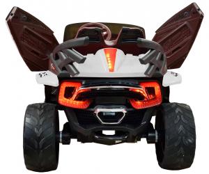Masinuta electrica 4x4 Premier D-Max, 12V, roti cauciuc EVA, scaun piele ecologica8
