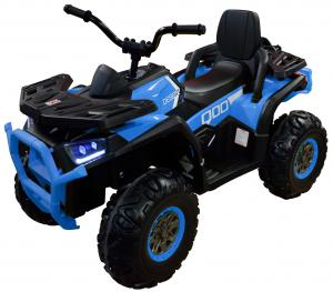 ATV electric 4x4 Premier Desert, 12V, roti cauciuc EVA, MP3, albastru0