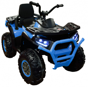 ATV electric 4x4 Premier Desert, 12V, roti cauciuc EVA, MP3, albastru1