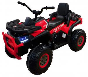 ATV electric 4x4 Premier Desert, 12V, roti cauciuc EVA, MP3, rosu [0]