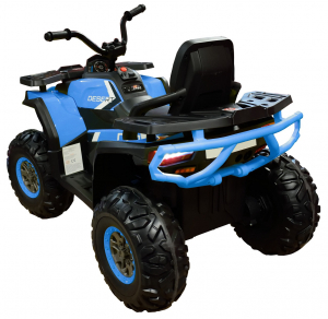 ATV electric 4x4 Premier Desert, 12V, roti cauciuc EVA, MP3, albastru3