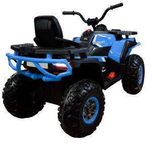ATV electric 4x4 Premier Desert, 12V, roti cauciuc EVA, MP3, albastru5