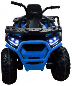 ATV electric 4x4 Premier Desert, 12V, roti cauciuc EVA, MP3, albastru4