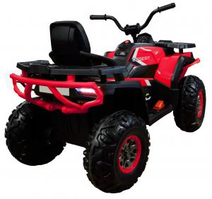 ATV electric 4x4 Premier Desert, 12V, roti cauciuc EVA, MP3, rosu [5]