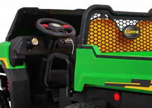 Buggy electric cu bena pentru 2 copii Premier 4x4 Hygge Truck, 6 roti cauciuc EVA, scaun piele ecologica, verde2
