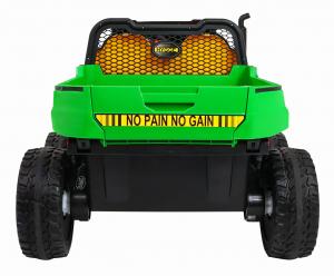 Buggy electric cu bena pentru 2 copii Premier 4x4 Hygge Truck, 6 roti cauciuc EVA, scaun piele ecologica, verde7