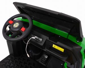 Buggy electric cu bena pentru 2 copii Premier 4x4 Hygge Truck, 6 roti cauciuc EVA, scaun piele ecologica, verde12